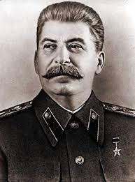 Den sovjetiske daiktatorn och massmördaren Josef Stalin (